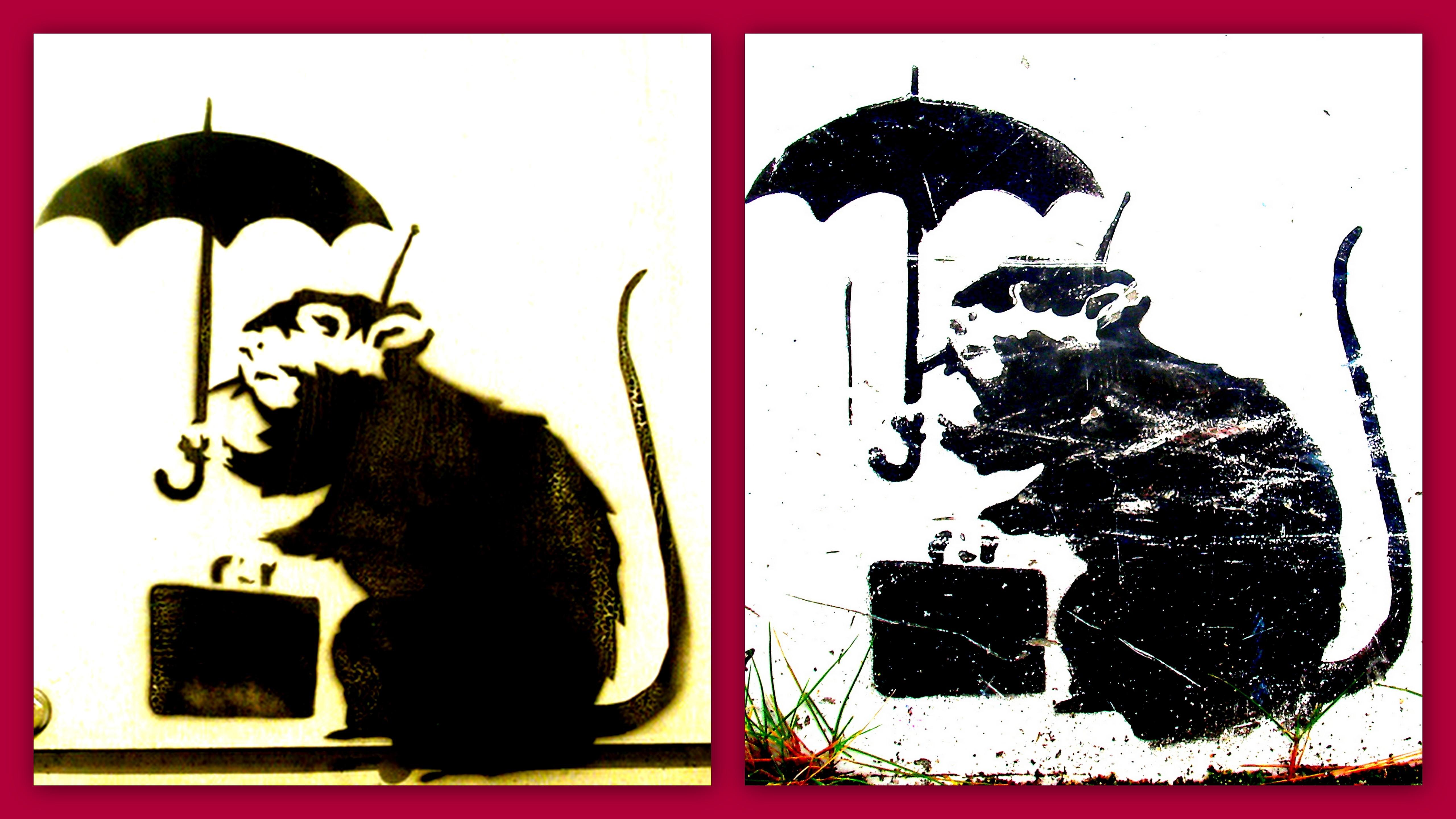 バンクシーが香川県に?高松にネズミのイラストが?絵は本物なの?4