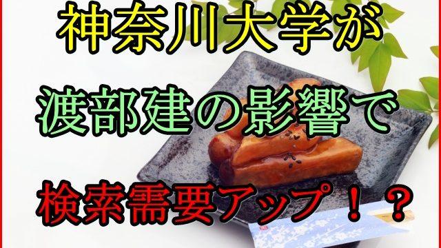 神奈川大学が渡部建の影響で国立かと偏差値も検索する人が激増!?